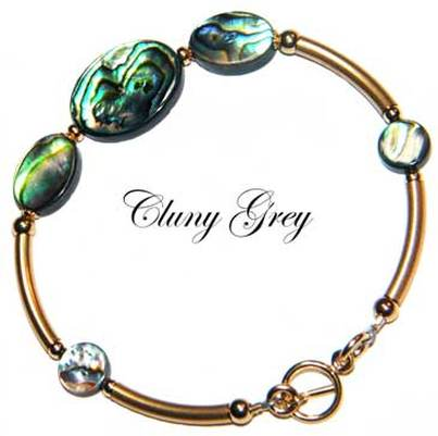 abalone bracelet with gold