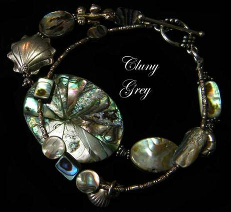 abalone bracelet with sterling silver